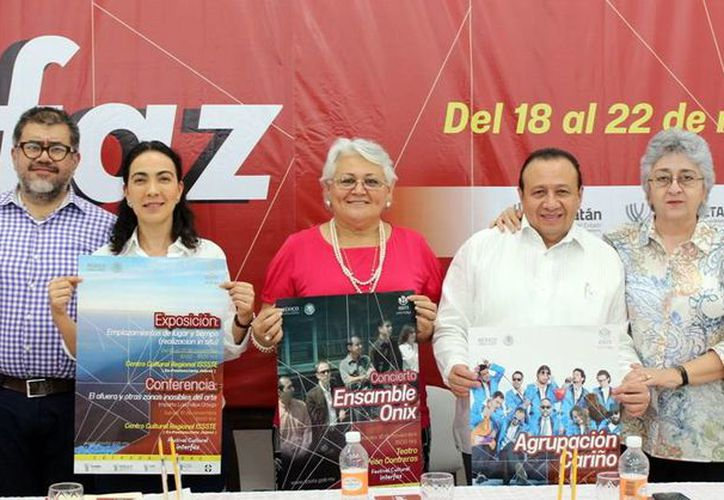 Este miércoles se llevó a cabo la presentación del festival cultural 'Interfaz: el entorno que estamos diseñando', el cual se llevará a cabo en distintas sedes de Mérida. (SIPSE)