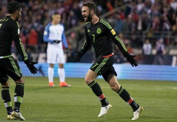 En una noche fría Layún abrió el marcador por México en EU. (imago7.com)