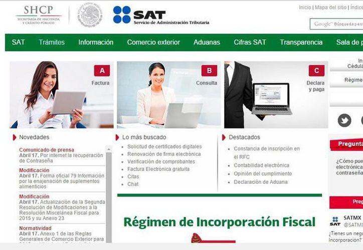 Desde la página de internet del SAT, el contribuyente puede acceder a su cuenta y actualizar su Firma Electrónica. (Captura de pantalla)