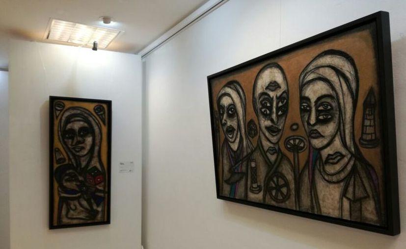 Las obras se expondrán hasta el 25 de mayo. (Faride Cetina/SIPSE)