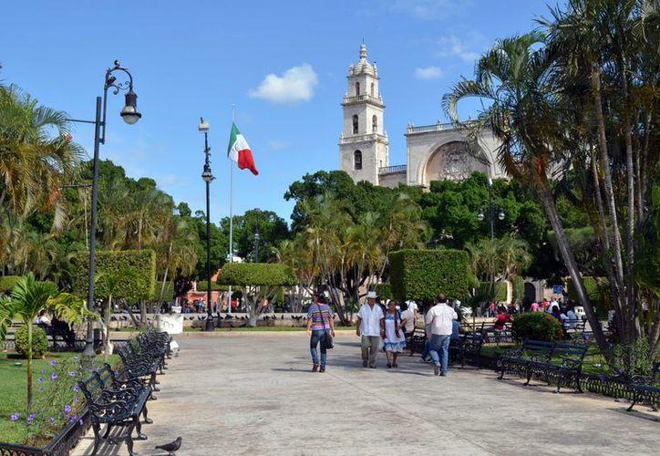 En el Centro Histórico de Mérida,  los 365 días del año hay eventos culturales. (Theani Ruz/SIPSE)