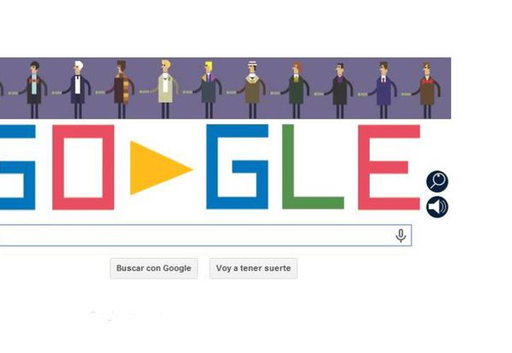 El doodle de este viernes muestra al Doctor Misterio en seis lugares diferentes. (google.com.mx)