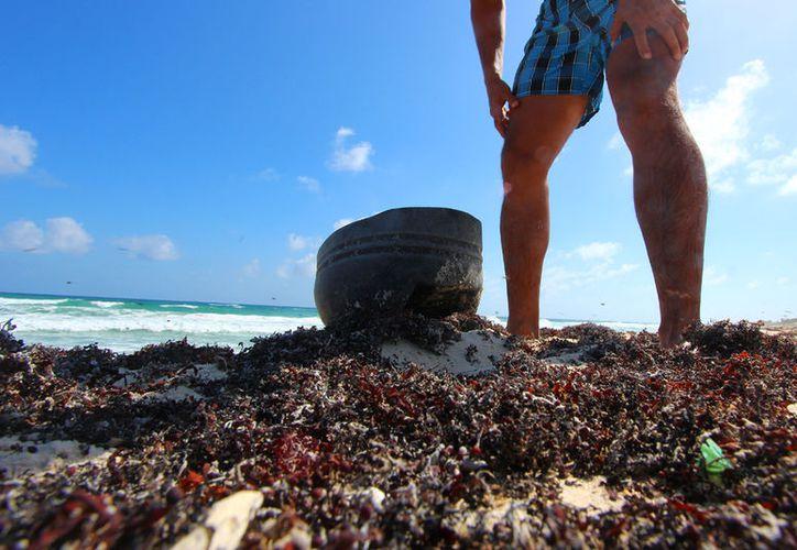 Se difundió una campaña cuyo objetivo fue generar conciencia para evitar contaminar las costas. (Gustavo Villegas/ SIPSE)