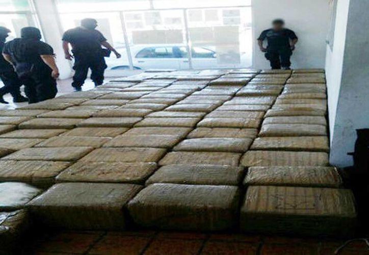 Fuerza Coahuila, aseguró 140 kilos de marihuana en Piedras Negras. (Milenio Digital)