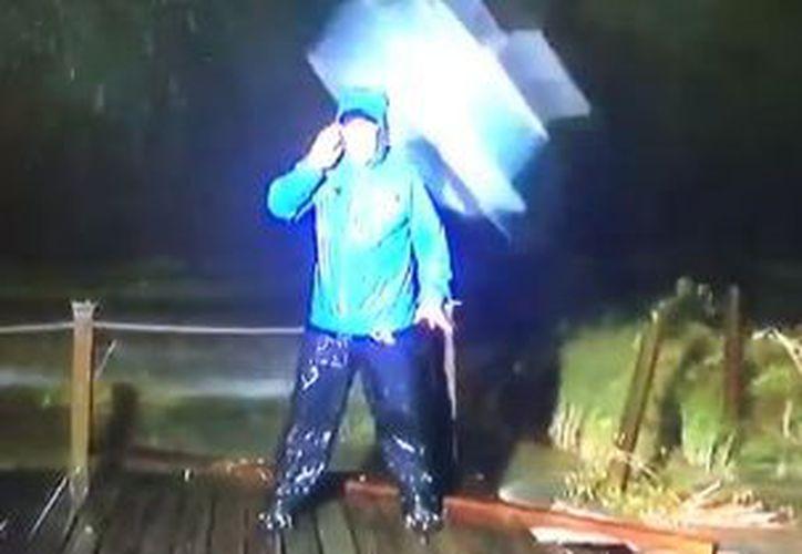 La tormenta 'Nate' tocó tierra en Estados Unidos como huracán categoría 1. (Twitter)