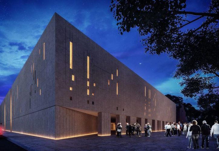 El programa Paice destinará 80 mdp para continuar con la construcción del Palacio de la Música. En la foto, la maqueta del recinto que se encontrará ubicado en el centro de Mérida.(Milenio Novedades)