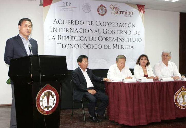Representantes de la República de Corea estuvieron en Yucatán para firmar el convenio con el Instituto Tecnológico de Mérida. (SIPSE)