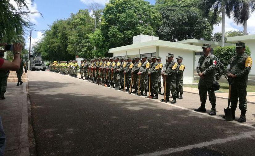 El ejército envió 200 elementos a las poblaciones del sur, donde se esperan las mayores afectaciones. (Milenio Novedades)