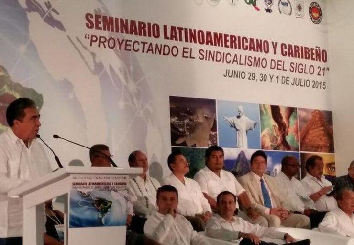 """El Seminario Latinoamericano y Caribeño """"Proyectando el Sindicalismo del Siglo XXI"""" se realizó en Cancún. (Redacción/SIPSE)"""