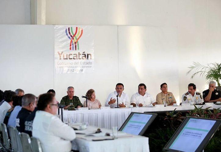 Con la presencia del gobernador Rolando Zapata Bello, se llevó a cabo la reunión de seguridad estatal. (Milenio Novedades)