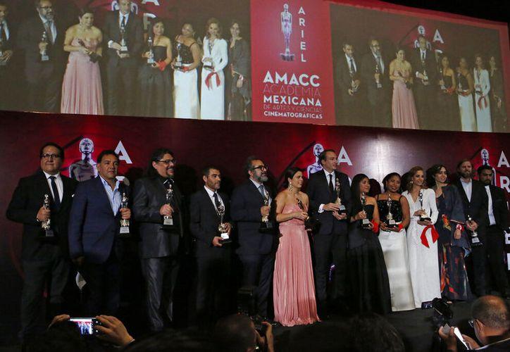 El cineasta Alfonso Cuarón agradeció, mediante un video. (AP Foto/Ginnette Riquelme)