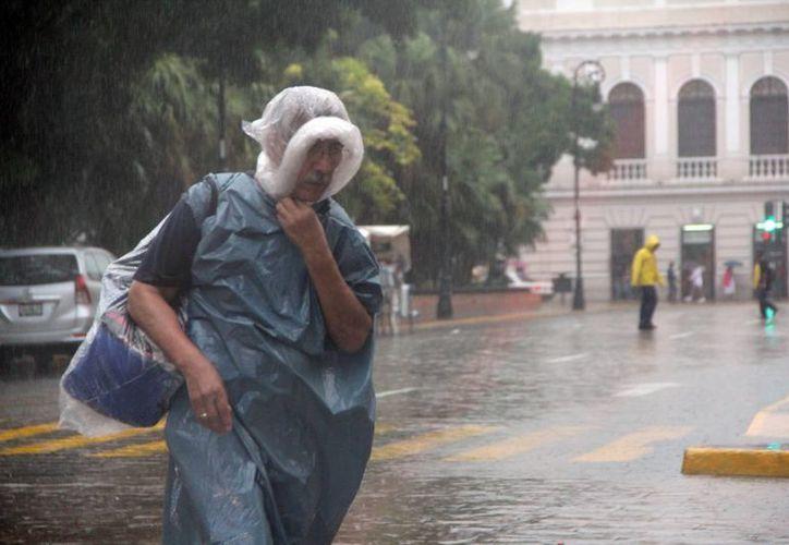 Se mantienen los días lluviosos en Yucatán por dos bajas presiones, una en la parte sur de la Península y otra al norte de las costas de Dzilam Bravo. (José Acosta/SIPSE)