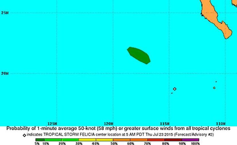 Una depresión tropical se formó al sur de Baja California. De acuerdo con el Centro Nacional de Huracanes de Miami no representa, hasta ahora, peligro para tierra firme. (NOAA)