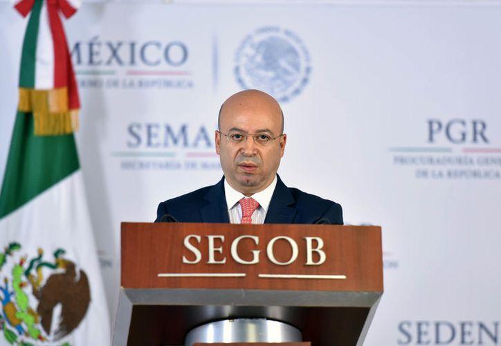 El comisionado nacional de Seguridad, Renato Sales Heredia, ofreció un informe de resultados. (www.gob.mx)