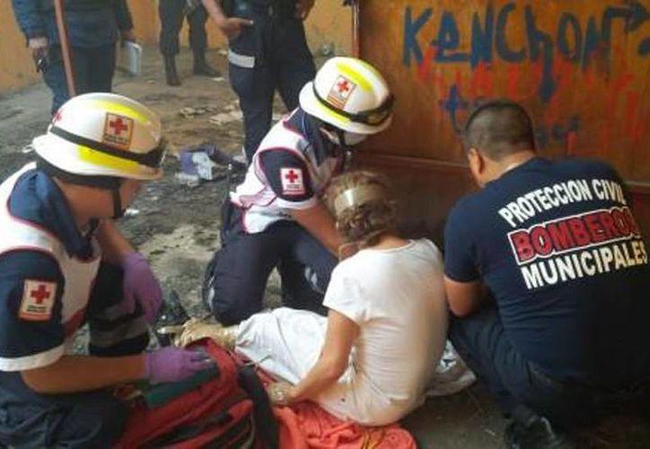 La mujer fue rescata la mañana del miércoles por parte de las autoridades de Michoacán. (Quadratín/Milenio)
