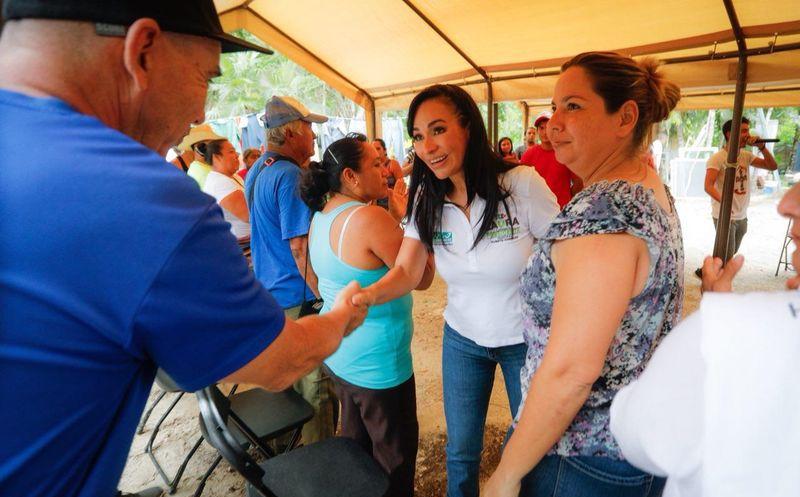 Laura Fernández recalcó que además de velar por Puerto Morelos, no dejará de lado a Leona Vicario y Central Vallarta. (SIPSE)