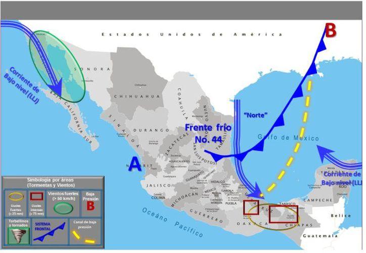 La temperatura mínima en Cancún será de 25 grados. (Conagua)