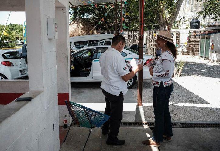 Marybel Villegas aseguró que con el voto de todos los mexicanos para Morena y el PT, el próximo primero de Julio, 'México tomará otro rumbo'. (SIPSE)