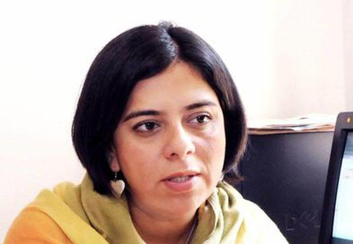 Doctora Andrómeda Valencia Ortiz, egresada de la UNAM. (Tomás Álvarez/SIPSE)