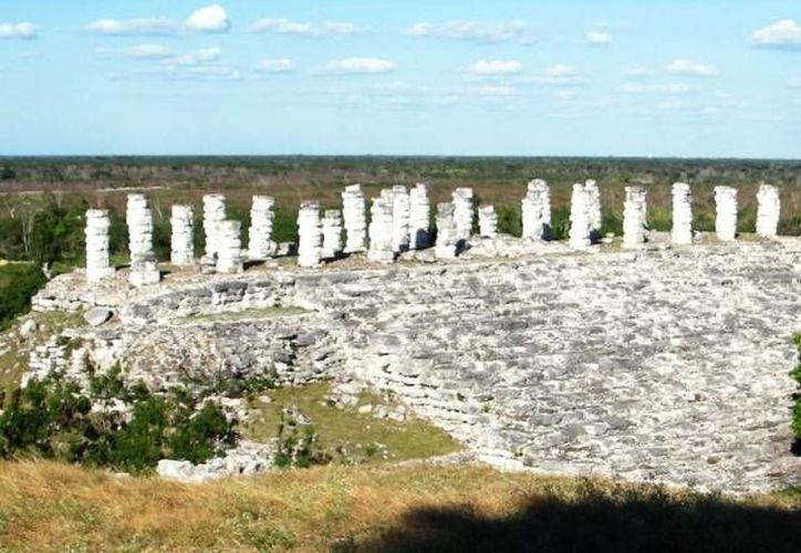 Las ruinas de Aké es uno de los lugares donde se registrará el fenómeno de la sombra 'especial'. (SIPSE/Foto de archivo)