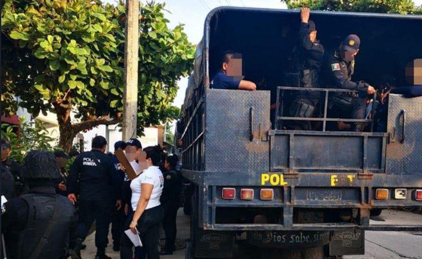 La seguridad del municipio de Huixtla quedará a cargo del Gobierno estatal mientras continúan las investigaciones. (Twitter / @FGEChiapas)