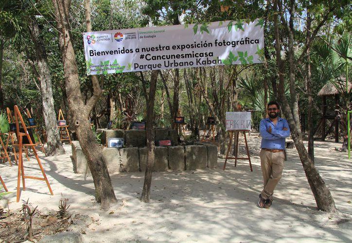 El fotógrafo Erick Ruiz presenta 25 imágenes bajo el título #Cancunesmicasa. (Luis Soto/SIPSE)