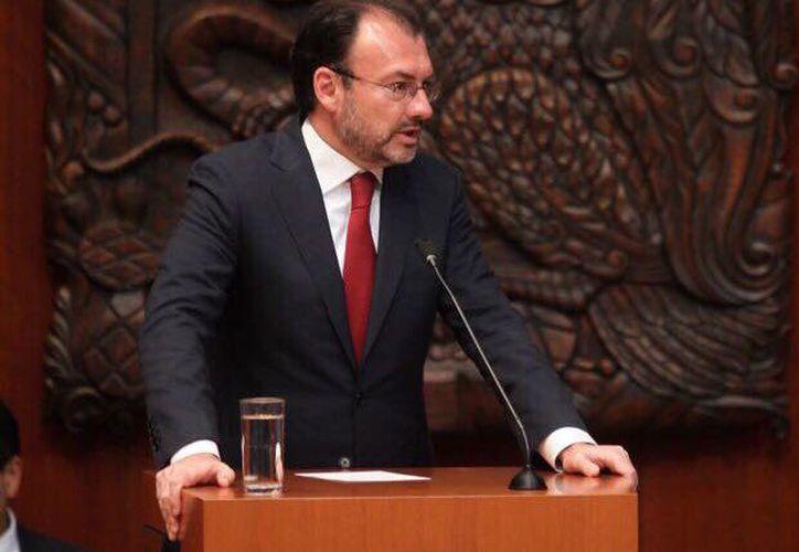 Videgaray señaló que México ha seguido con atención el desarrollo de los acontecimientos en Cataluña y lamentó los hechos de violencia. (SRE)