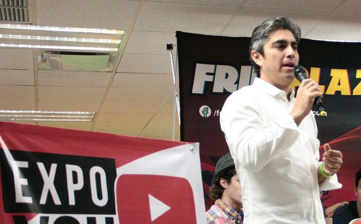 Felipe Rodríguez Ballote habló sobre lo que podrán ver los jóvenes que asistan a la Expo Youtubers 2017. (Jorge Acosta/SIPSE)