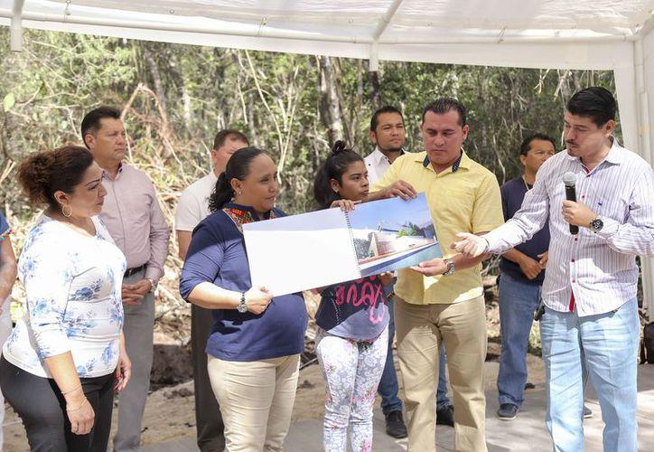 El proyecto se presentó a los habitantes de la delegación. (Redacción/SIPSE)