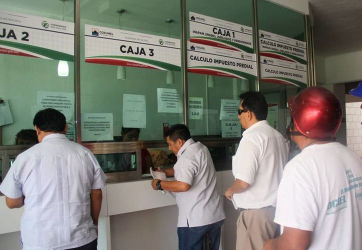 Piden a los contribuyentes acudir a las cajas de la Tesorería Municipal. (Cortesía/SIPSE)