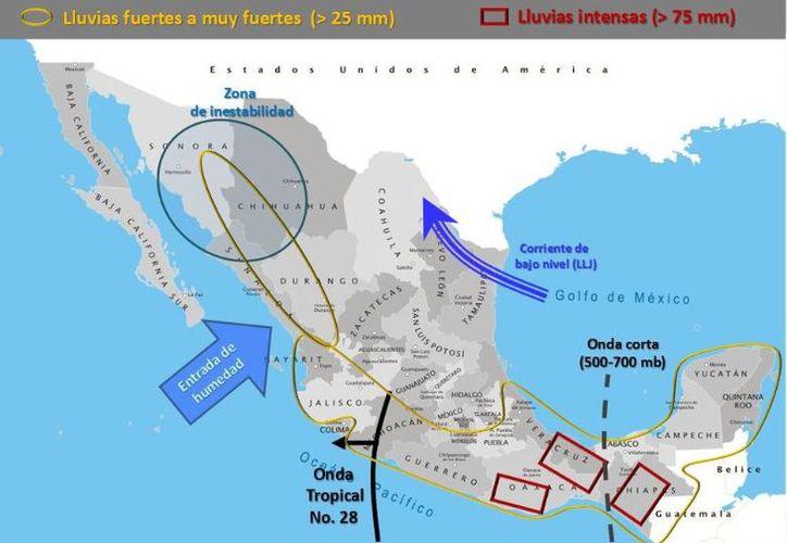 Se prevé que la temperatura máxima alcance los 31 grados centígrados en Cancún. (SMN)