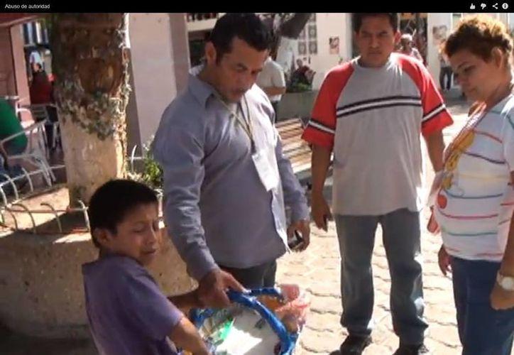 El gobierno de Tabasco anunció una beca para el pequeño. (Captura de pantalla)