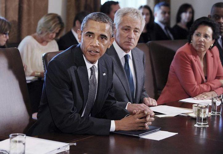 El presidente de Estados Unidos, Barack Obama, durante una reunión de gabinete en la Casa Blanca. (Archivo/EFE)
