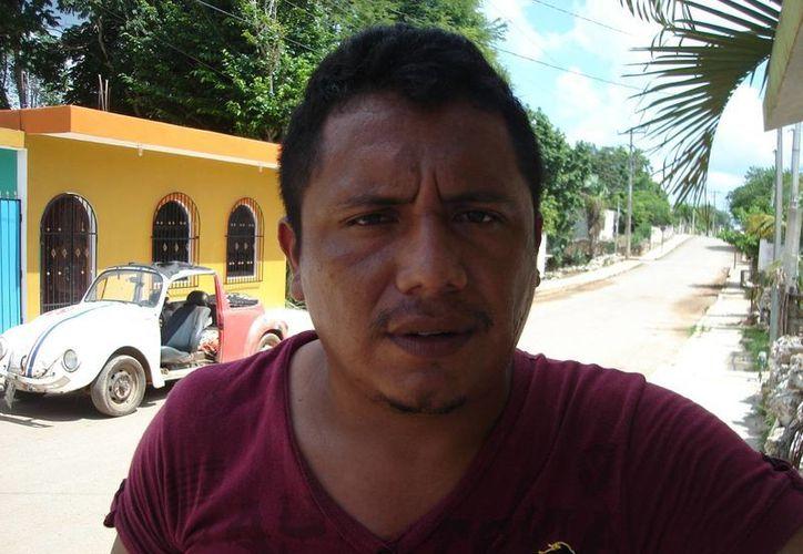 William Enrique Hoil Tilán, habitante de la ciudad. (Carlos Yabur/SIPSE)
