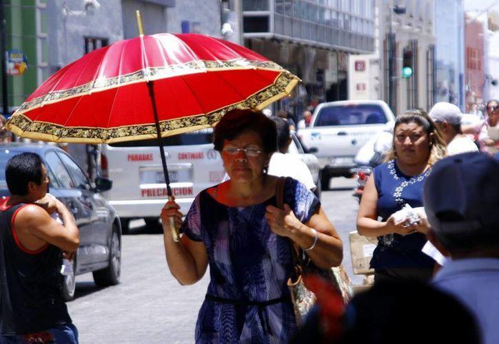En estos días las sombrillas y paraguas no pueden faltar entre los meridanos, tanto para protegerse del sol como de las lluvias. (Christian Ayala/SIPSE)