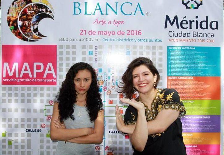 Imagen de dos de las participantes de 'La Noche Blanca'. Habrá cuatro proyectos en los que participan músicos integrantes de la Orquesta Sinfónica de Yucatán. (Milenio Novedades)