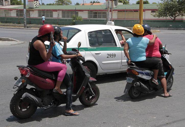 El Estado destaca por los accidentes viales de motociclistas. (Tomás Álvarez/SIPSE)