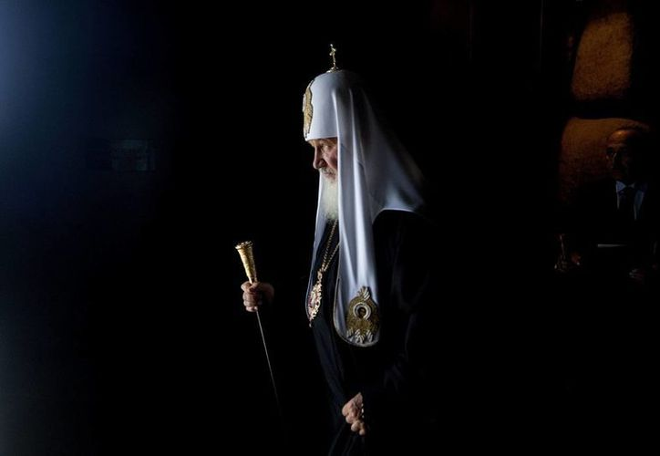 Un patriarca ortodoxo ruso, Kiril, durante un visita el museo del Holocausto de Jerusalén, Israel.  (EFE/Archivo)