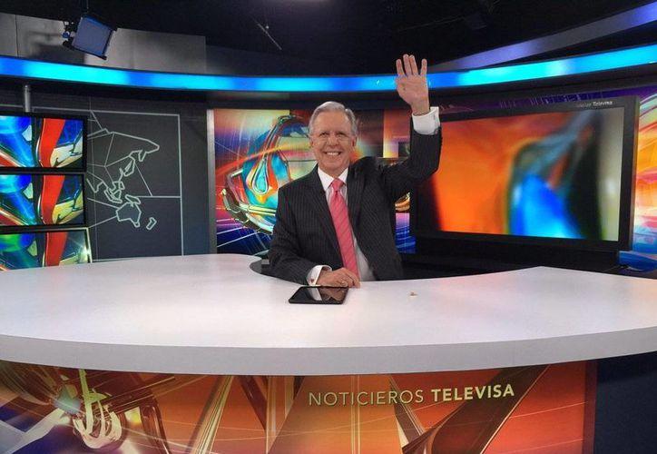 El último viernes de agosto podría ser la última presentación de Joaquín López-Doriga como conductor del noticiero nocturno. (Captura de pantalla/YouTube)