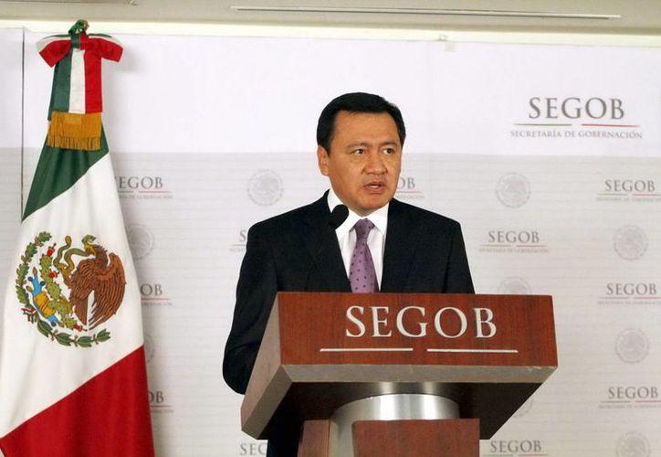 """""""Estaremos en Michoacán hasta lograr la paz"""" dijo el secretario de Gobernación, Miguel Ángel Osorio Chong. (Archivo Notimex)"""