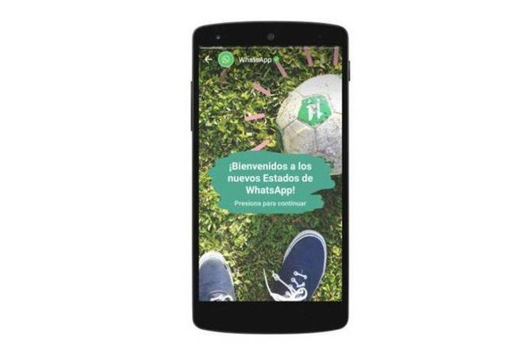 """La nueva función de WhatsApp de """"Estados"""" se realiza con imágenes, vídeos y hasta GIFs que cualquiera de nuestros contactos puede ver, aunque solo duran 24 horas. (Archivo/Agencias)"""