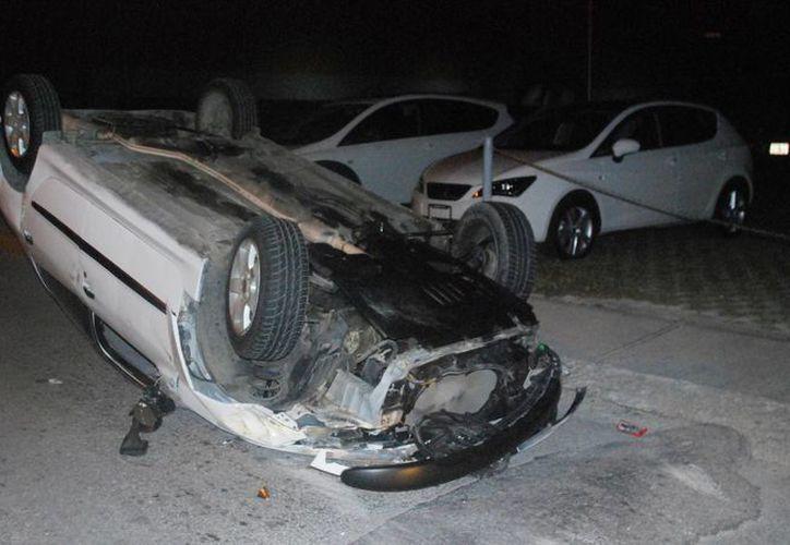 Sólo el 2.15% de los vehículos involucrados en accidentes están asegurados. (Tomás Álvarez/SIPSE)