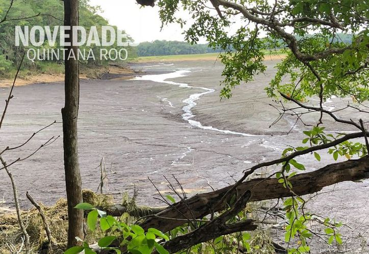 El fin de semana pobladores de Laguna Om escucharon un estruendo, después, la Laguna Chakanbakán desapareció. (Joel Zamora/SIPSE)