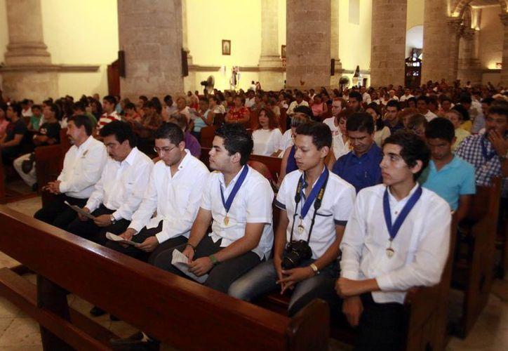 En México hay 40 mil integrantes de Escuderos de Colón. (Christian Ayala/Milenio Novedades)