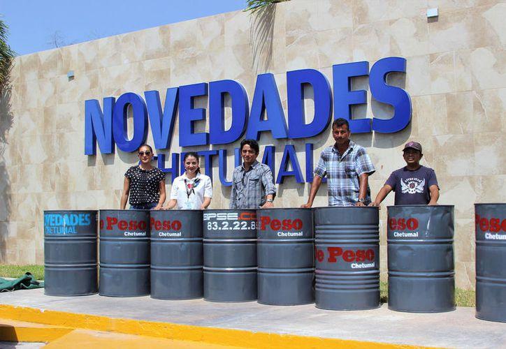 Fue la segunda donación de contenedores que la empresa realizó al ayuntamiento othonense.