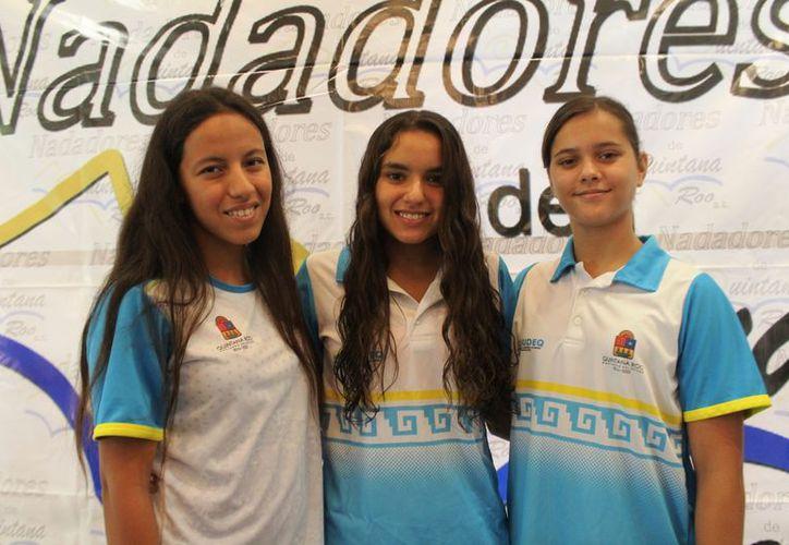 Magda Vega, Isabel Paniza y Luna Cueva viajarán a San Diego para la Copa Challenger. (Raúl Caballero/SIPSE)