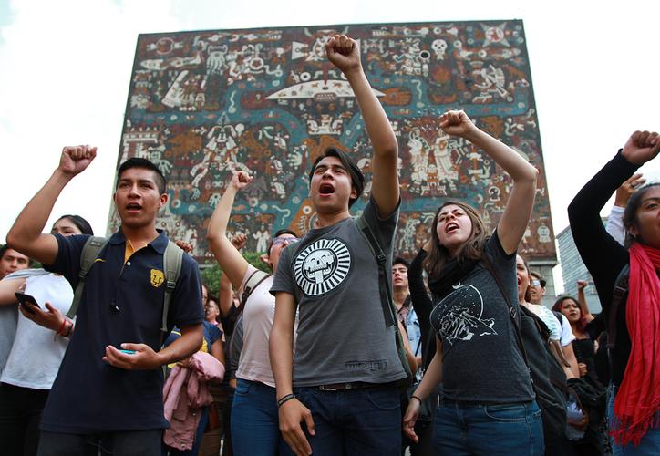 Estudiantes de la UNAM han protestado en contra de la violencia de los últimos días. (Notimex)