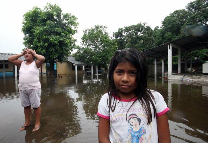 Tan solo en la localidad de Mactún, en el municipio de Balancán, hay 350 personas afectadas  tras el paso de 'Boris'. (Notimex)