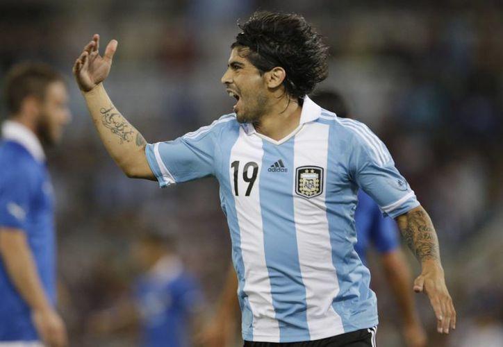 Banega anotó el segundo gol de los sudamericanos al minuto 48. (Agencias)