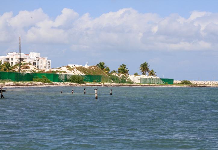 El proyecto se ubicará frente al complejo residencial turístico Marina 1 y 2 en Playa Mujeres. En esta imagen se observa una duna cercana al muelle de Punta Sam. (Paola Chiomante/SIPSE)